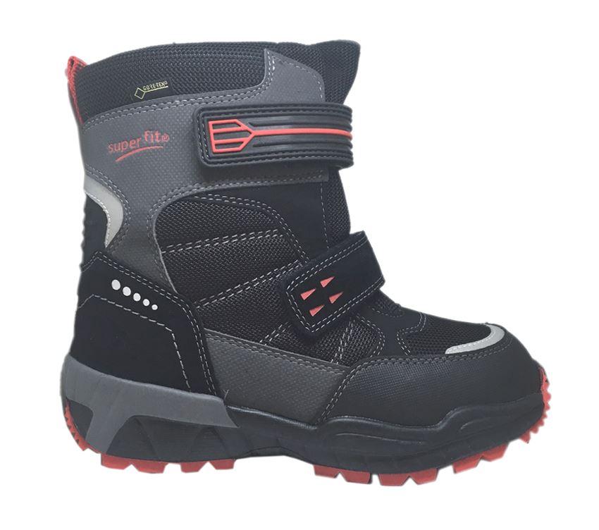 53296eb3d66 Sort/røde Superfit vinterstøvler. Køb vinterstøvler Nu
