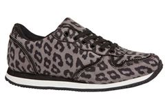 Duffy sneakers gr� leopard / dyreprint