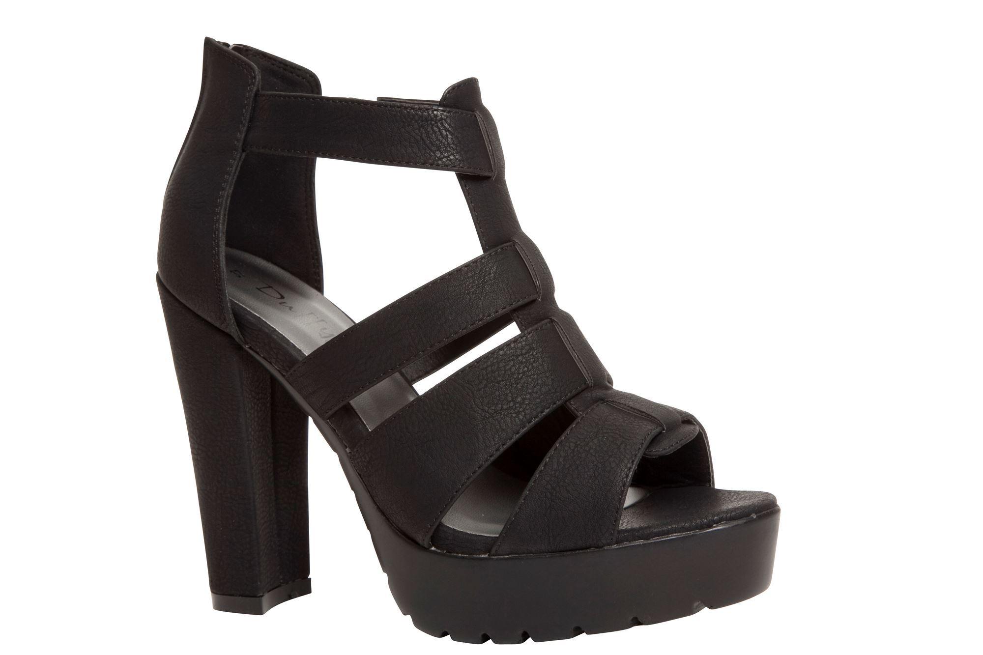 c4f5d8facba Duffy høj sandal, sort - flot højhælet sandal med remme