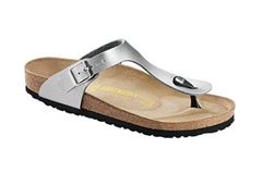 Birkenstock Gizeh, sølv (normal)