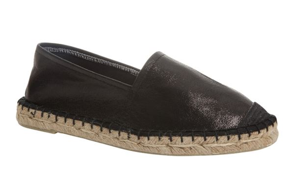 Duffy espadriller, sort metallic