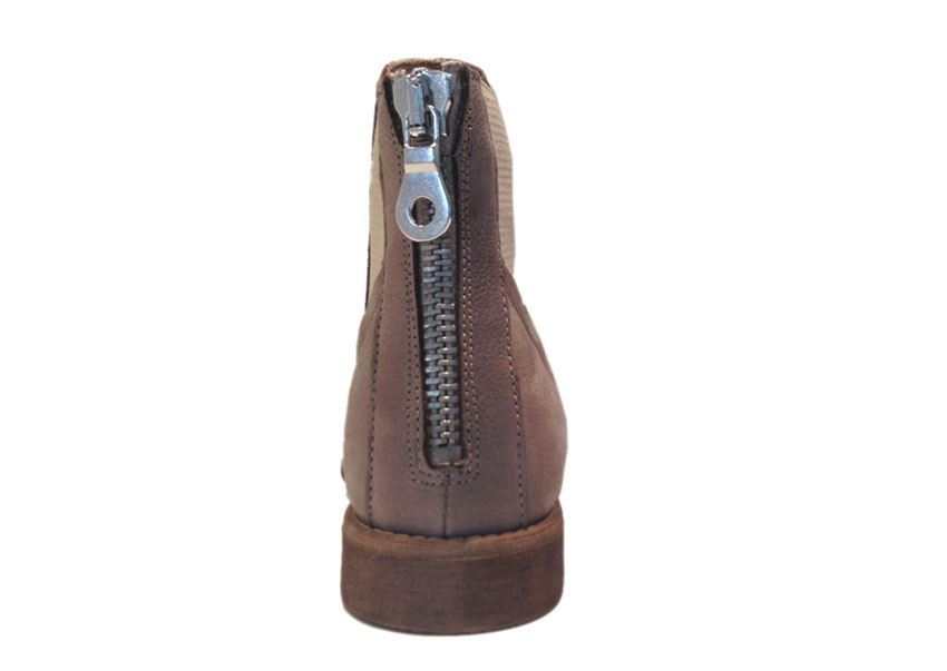 7ceafc87e2dd Duffy grå ankelstøvle i skind. Køb slip-on støvlet her!
