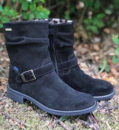 Richter 3957 831, lang sort støvle