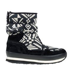 Rubberduck Sporty Snowjogger native, black/white - vinterst�vle, sort/hvid