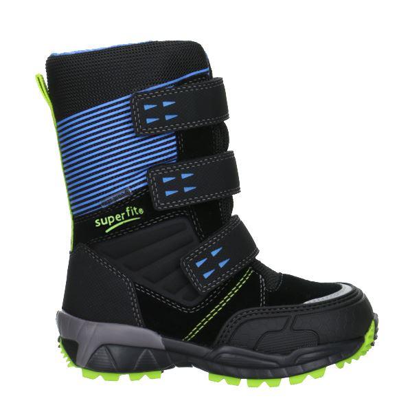 a356c84c6e6 Superfit vinterstøvler m/Goretex, sort m/blå og lime