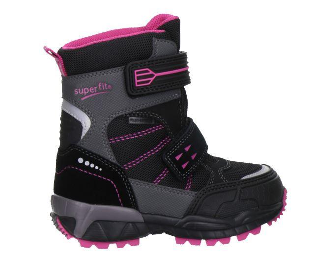 501a8391175 Sort/pink Superfit vinterstøvler. Køb vinterstøvler